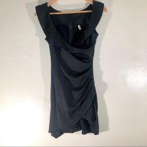 Jessica J plunging neckline ruched side mini dress